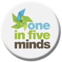 One in Five Minds button logo
